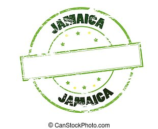 Jamaica - Rubber stamp with word Jamaica inside, vector ...