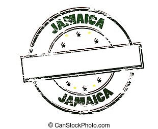 Jamaica - Rubber stamp with word Jamaica inside, vector...