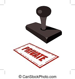 private - rubber stamp with word private