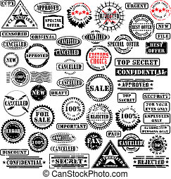 Collection of grunge rubber stamps. See other rubber stamp collections in my portfolio.