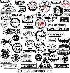 Rubber stamps collection - Collection of rubber stamps. See ...