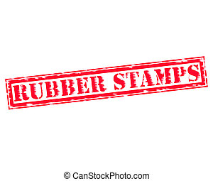 RUBBER STAMPS RED Stamp Text on white backgroud