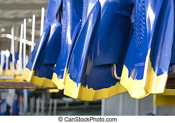 Rubber Swim Fins - Image of newly made rubber swim fins...