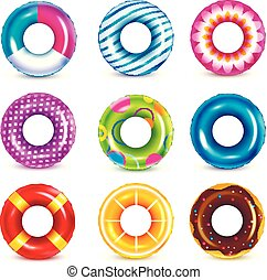 Rubber Swimming Rings Collection