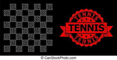 Rubber Tennis Stamp Seal and Polygonal Network Chess Board