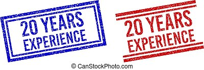 Rubber Textured 20 YEARS EXPERIENCE Stamp Seals with Double Lines