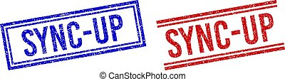 Rubber Textured SYNC-UP Stamp Seals with Double Lines