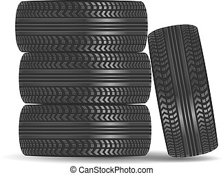 Rubber tire icon isolated on white background