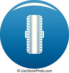 Rubber tyre icon blue vector