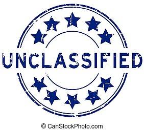 rubber, unclassified, witte , woord, ronde, blauwe , postzegel, zeehondje, grunge, achtergrond, ster, pictogram