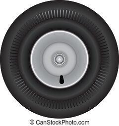 Rubber wheel for wheelbarrow