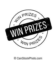 rubber, winnen, prijzen, postzegel