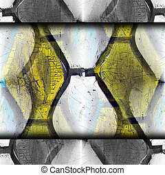 rubber yellow red cut old crack background texture wallpaper