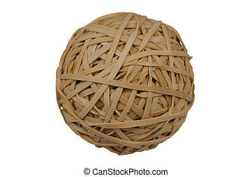 Rubberband Ball isolated over a white background with clipping path