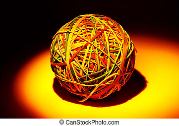 Rubberband Ball With Creative Lighting