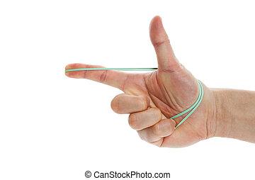 rubberband, schieten