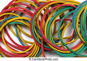 rubberbanden, op einde