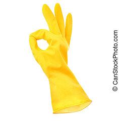 rubbere handschoen