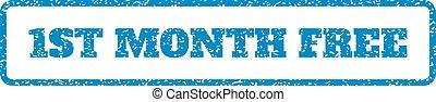 rubberstempel, 1st, kosteloos, maand