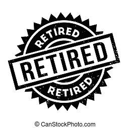rubberstempel, gepensioneerd