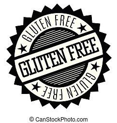 rubberstempel, gluten, kosteloos