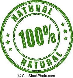 rubberstempel, honderd, natuurlijke