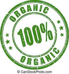 rubberstempel, honderd, organisch