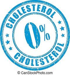rubberstempel, kosteloos, cholesterol