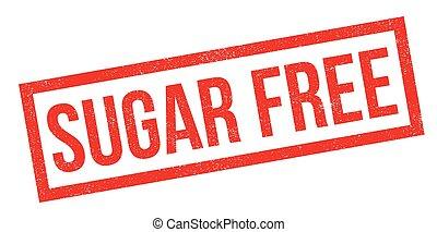 rubberstempel, kosteloos, suiker