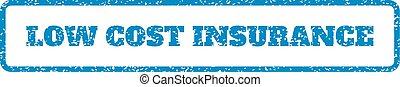 rubberstempel, kosten, laag, verzekering