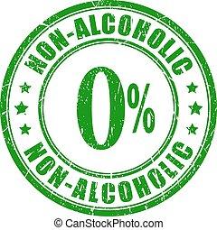 rubberstempel, niet, alcoholhoudend