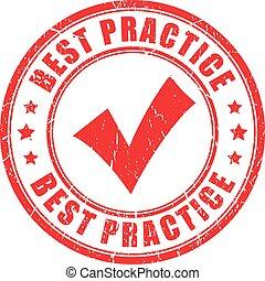 rubberstempel, praktijk, best