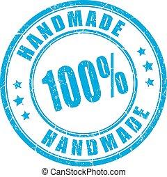 rubberstempel, product, met de hand gemaakt