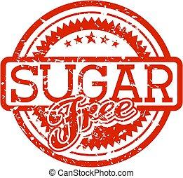 rubberstempel, suiker, kosteloos