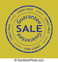 rubberstempel, vector, grunge, verkoop