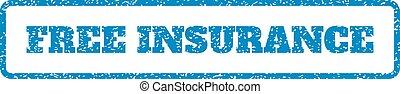 rubberstempel, verzekering, kosteloos