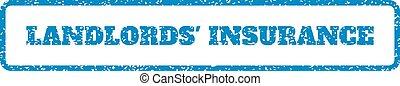 rubberstempel, verzekering, landlords'