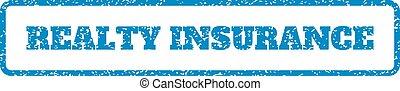 rubberstempel, verzekering, realty