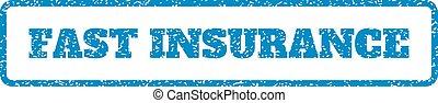 rubberstempel, verzekering, vasten