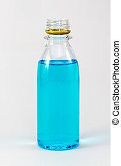 Rubbing Alcohol Ethanol Bottle Isolated On White