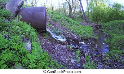 Rubbish and water sewer pipe