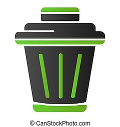Rubbish basket flat icon. Bin color icons in trendy flat style. Trash gradient style design, designed for web and app. Eps 10.
