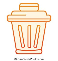 Rubbish basket flat icon. Bin orange icons in trendy flat style. Trash gradient style design, designed for web and app. Eps 10.