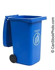 rubbish bin isolated on white