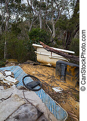 Rubbish Dumped in the Australian Bush