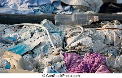 Rubbish - Diverse rubbish on the ground