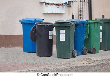 Rubbish - Household  waste waiting to be taken away