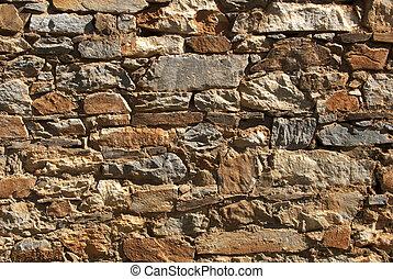Rubble Rock Wall - High contrast shot of rubble rock wall...