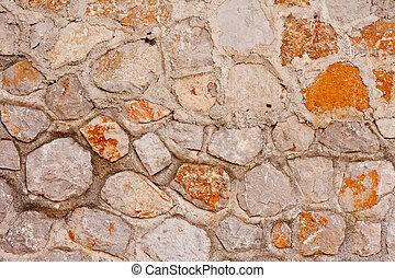 rubblestone, muur, achtergrond, textuur, model
