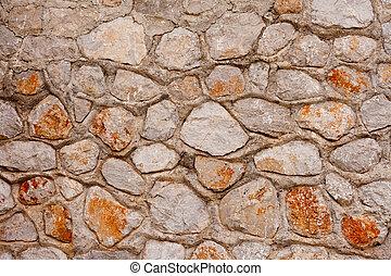 rubblestone, parede, fundo, textura, padrão